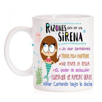 taza razones ser sirena