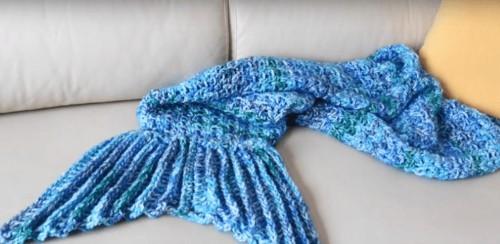 Manta cola de Sirena a Crochet
