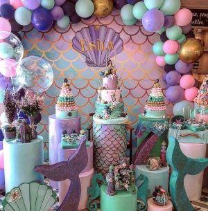 decoración fiesta sirena