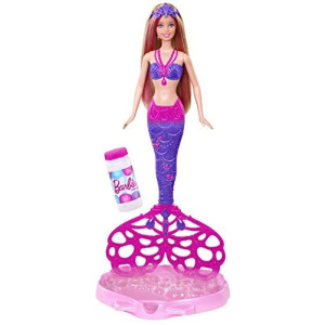 Barbie - Muñeca Sirena Burbujas mágicas