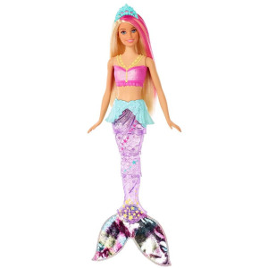 muñeca barbie sirena brilla