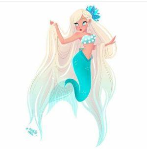 Sirena azul turquesa