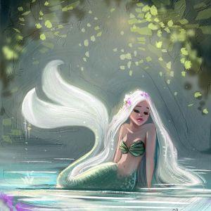 Sirena dentro del agua