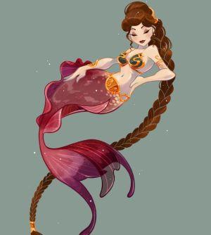 Sirena con trenza larga