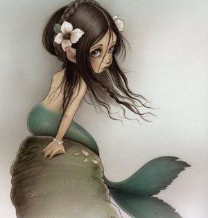 dibujo de niña sirena