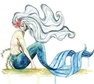 Sirena sentada