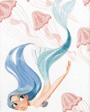 Sirena de pelo azul